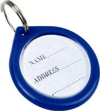 Anti-Lost Pet Dog ID Address Label Tag Barrel Tube / M18