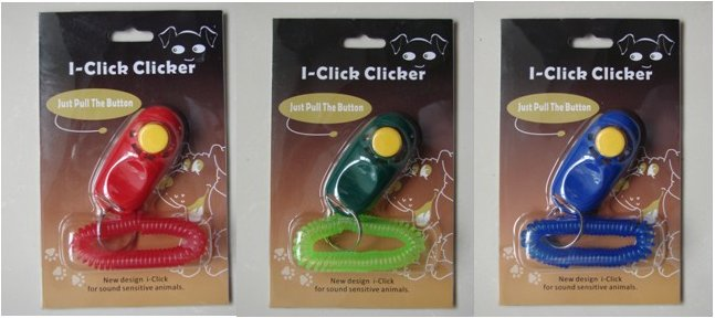 i Click dog training clicker with wrist strap