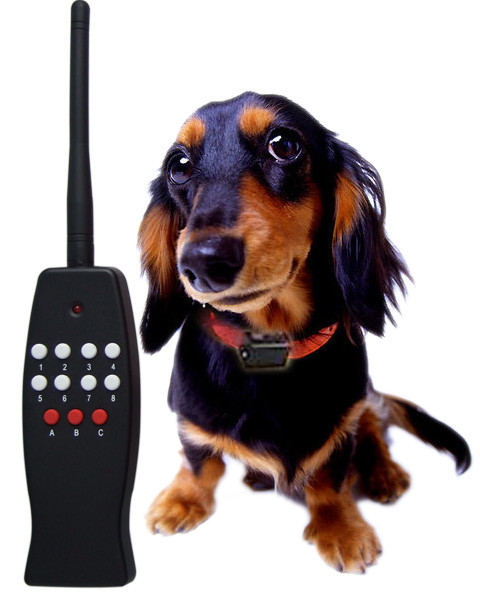 Remote control dog training SOUND + STATIC SHOCK collar / 8 LEVELS
