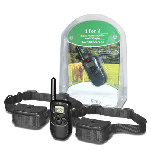 !NEW! Remote control dog training LCD + VIBRATION + STATIC SHOCK collar / 2 DOG
