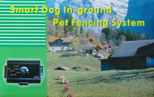 Underground invisible dog FENCE system with electric shock collar / 4 DOG